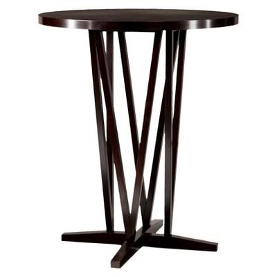 Devon Bistro Bar Height Table Wood/Coffee - Southern Enterprises