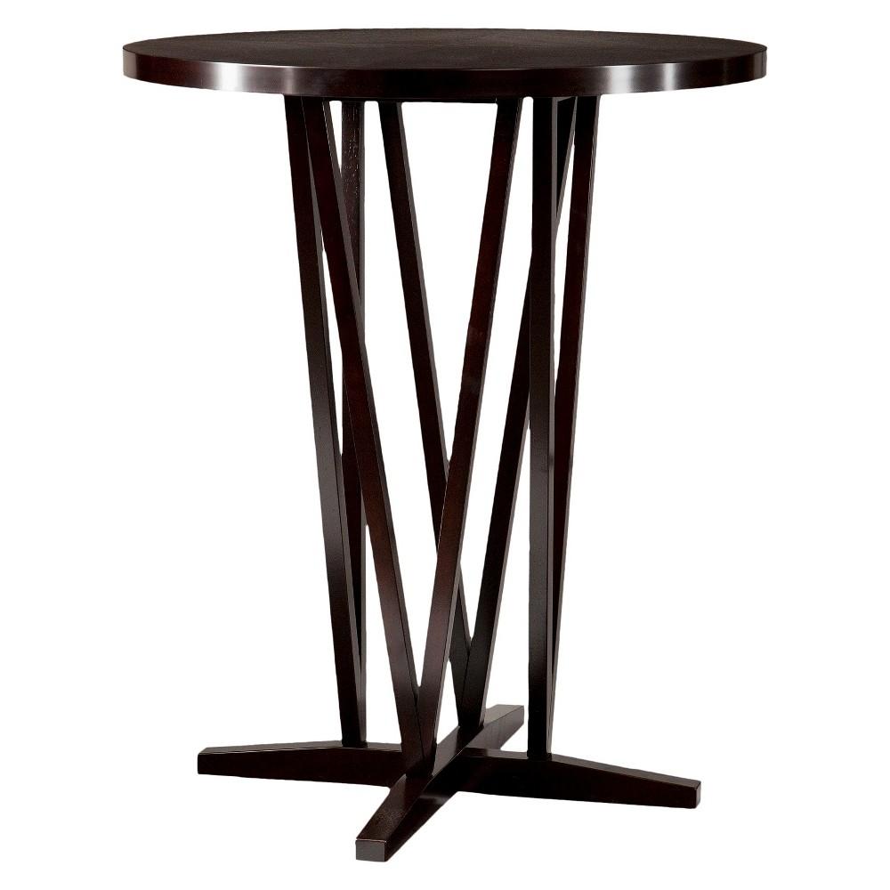 Devon Bistro Dining Table - Wood/Coffee (Brown) - Aiden Lane