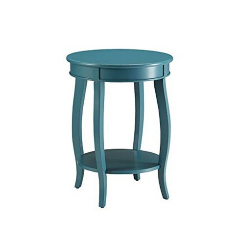 Elegant Side Table Teal Blue - Benzara - image 1 of 3