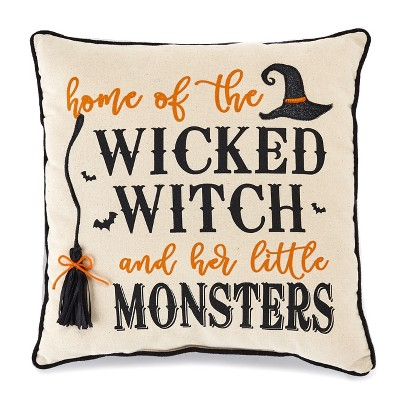 Lakeside Halloween Throw Pillow - Accent Pillow Decor for Couches, Benches