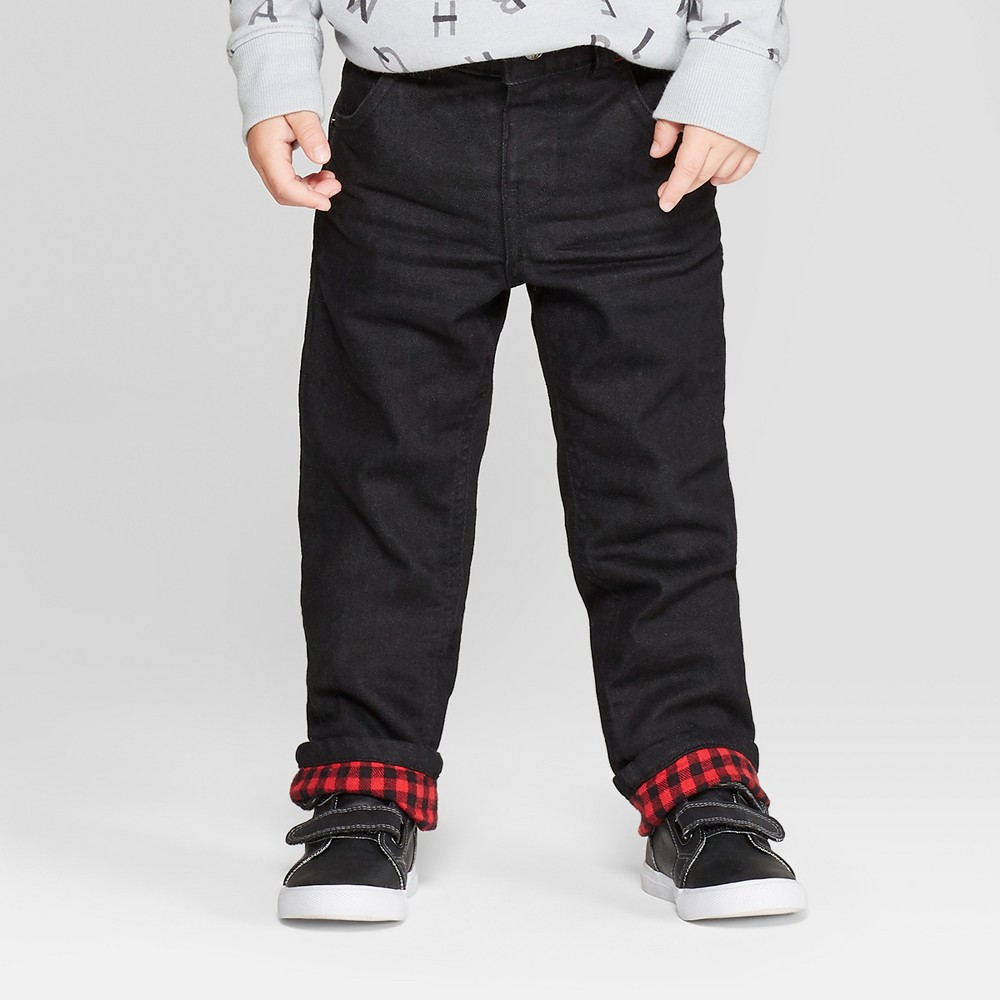Toddler Boys' Flannel Lined Straight Jeans - Cat & Jack B...