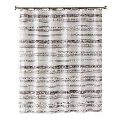Geo Stripe Shower Curtain Gray - Saturday Knight Ltd.