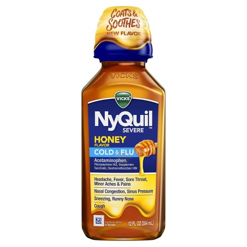 Vicks NyQuil Severe Cold & Flu - Honey - 12 fl oz - image 1 of 4