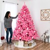 Best Choice Products 7.5ft Artificial Christmas Full Tree Festive Holiday Decoration w/ 1,749 Branch Tips, Stand - Pink - image 2 of 4