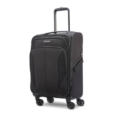 "American Tourister Phenom 20"" Softside Spinner Suitcase - Black"