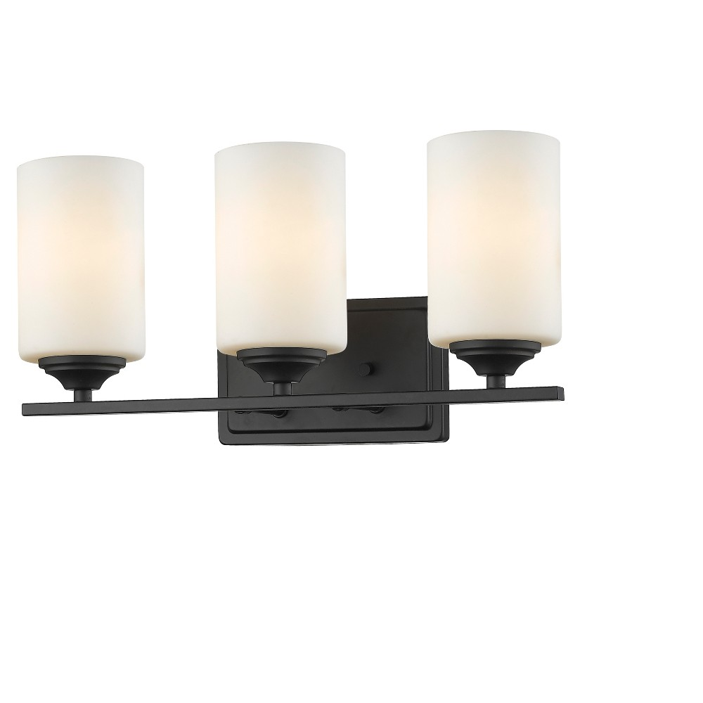 Vanity Wall Lights with Matte Opal Glass (Fit 3 Bulbs) - Z-Lite, Silver