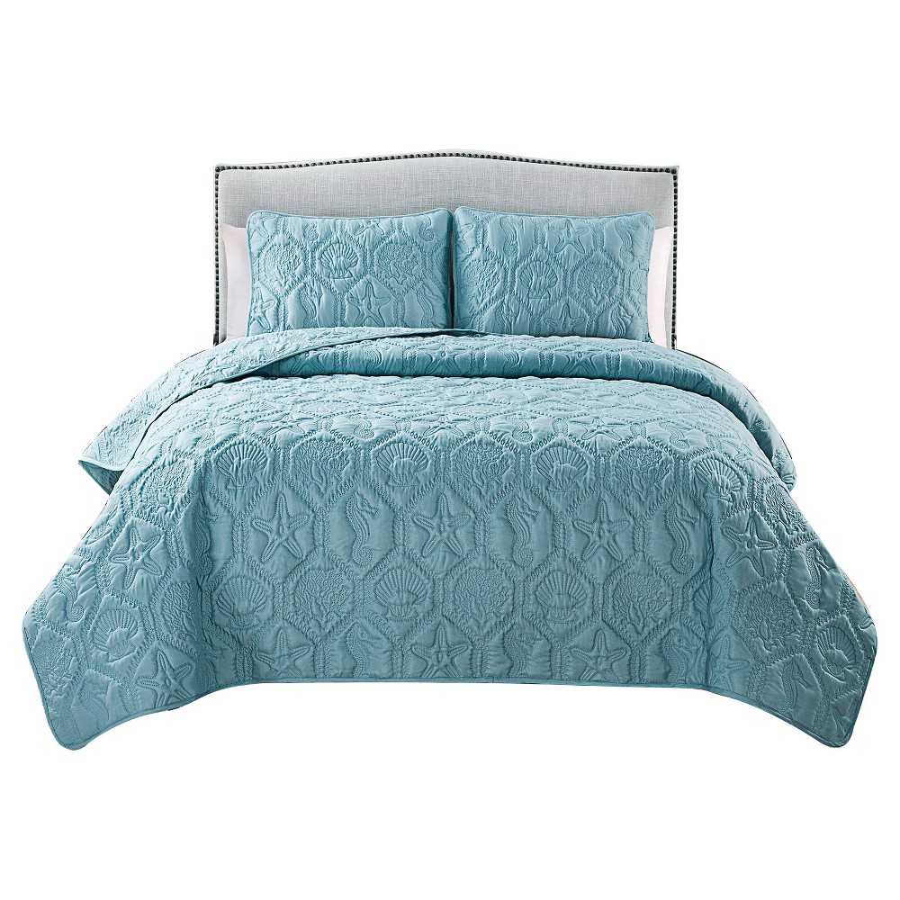 Image of Blue Shore Quilt Set King 3pc - Vcny