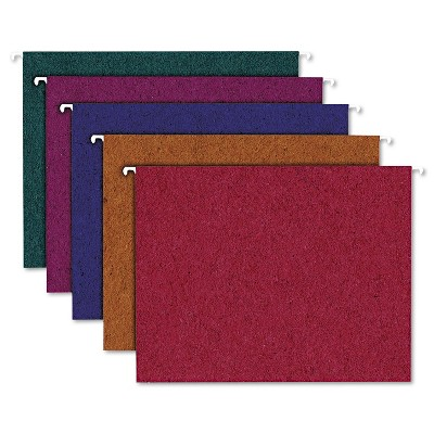 Pendaflex Earthwise Recycled Colored Hanging File Folders 1/5Tab Letter Assorted 20/BX 35117
