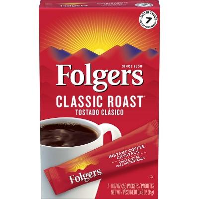 Folgers Classic Roast Instant Medium Roast Coffee - 7ct