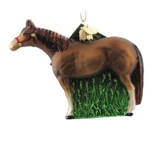 """Old World Christmas 3.75"""" Quarter Horse Ornament Rodeo Pet  -  Ornament Sets - image 1 of 3"""