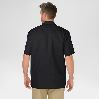 petiteDickies Men's Original Fit Short Sleeve Twill Work Shirt- Black XL
