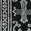 Silver Metallic Brocade Crosses