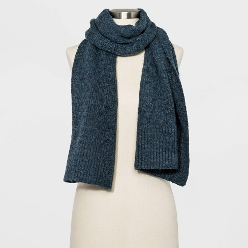 Women's Oblong Scarf - Universal Thread™ Navy One Size - image 1 of 2