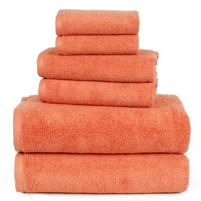 Solid Bath Towels And Washcloths 6pc Brick - Yorkshire Home