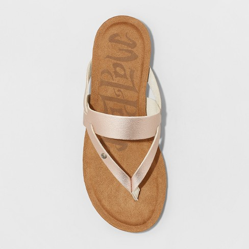 3d00e7e1332e Women s Mad Love Regina Comfort Flip Flop Sandals - Rose Gold 5   Target