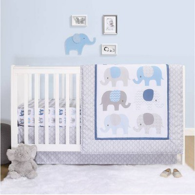 PS by The Peanutshell Sleepy Elephant Crib Bedding Set - 3pc