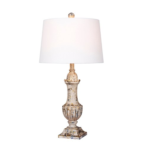 Distressed Decorative Resin Table Lamp Antique Ivory  - Fangio Lighting - image 1 of 2