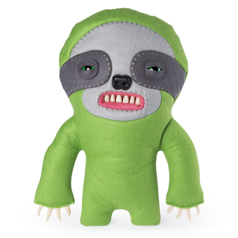 Fuggler Funny Ugly Monster 12 Sickening Sloth Deluxe Plush Creature with Teeth - Green