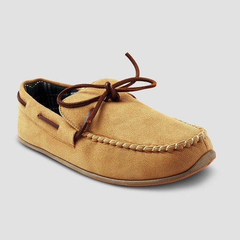 b4896f4ad027 Men s Deer Stags Fudd Moccasin Slippers - Tan 12   Target