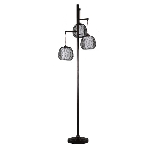 "72"" 3 Lights Floor Lamp Black/White (Lamp Only) - Home Source - image 1 of 2"