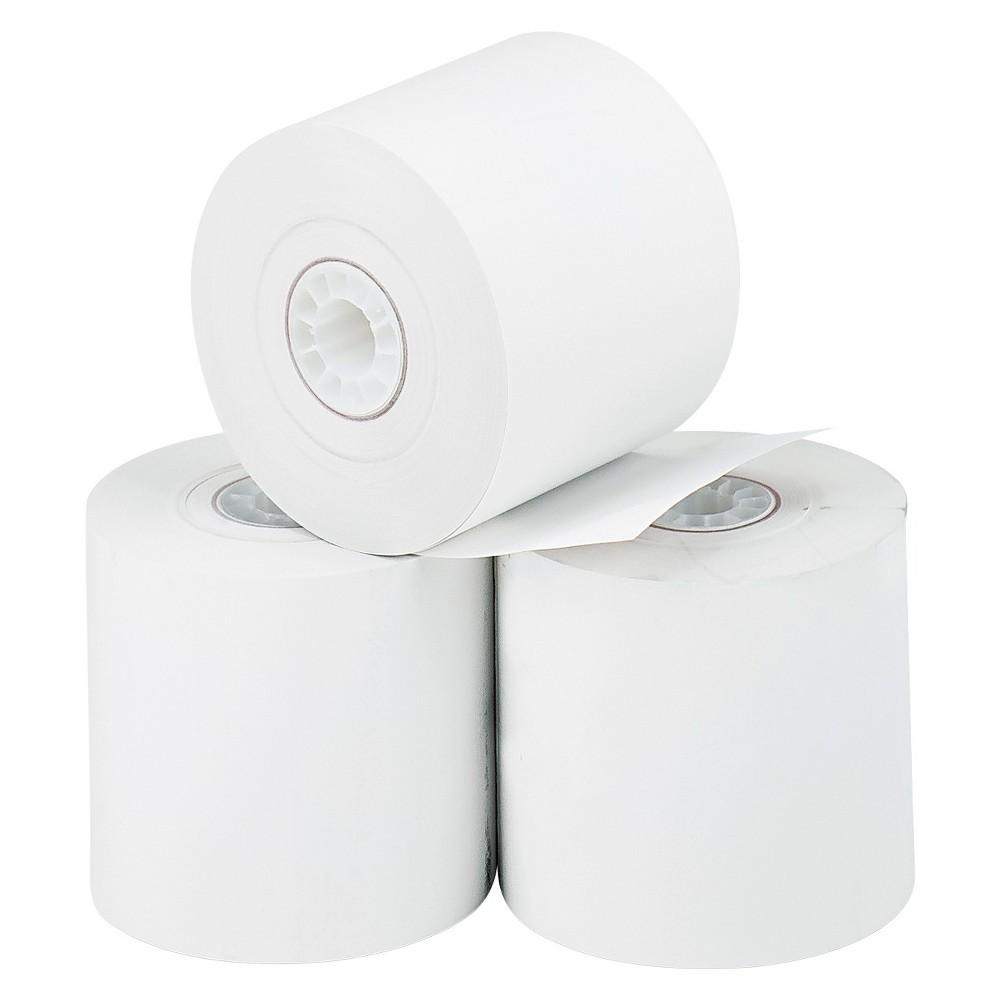 PM Company Thermal Paper Rolls, Cash Register/Calculator White 2-1/4x165' 3pk