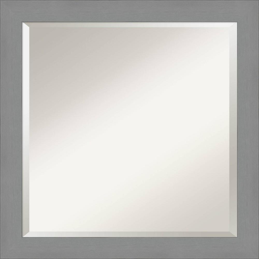 "Image of ""24"""" X 24"""" Framed Bathroom Vanity Wall Mirror Brushed Nickel - Amanti Art"""