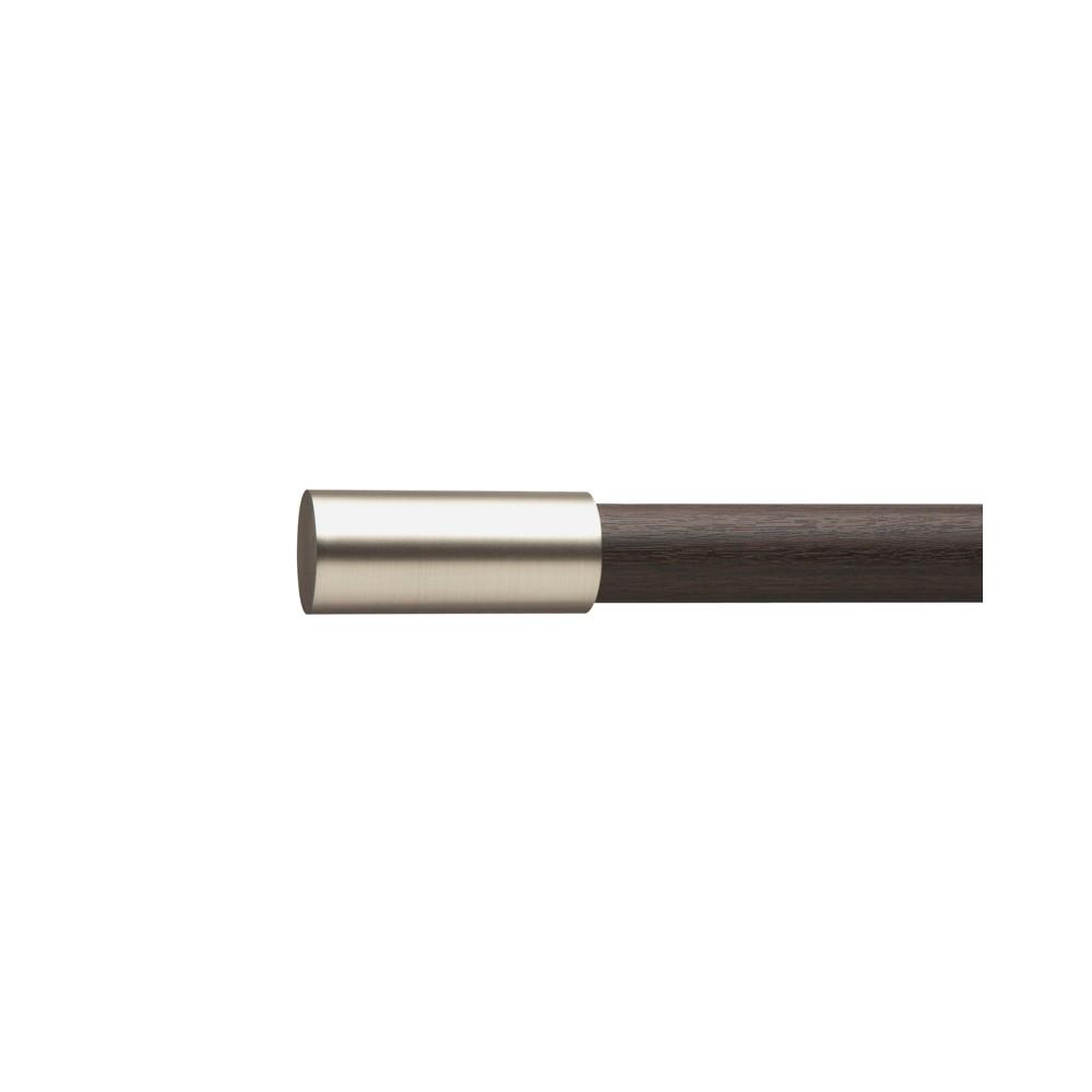 Umbra Enz Drapery Rod Set Espresso/Nickel 72-144, Brown