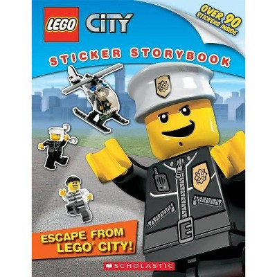 Escape from Lego City! (Lego City: Sticker Storybook) - by  Wade Wallace (Paperback)