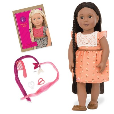 """Our Generation 18"""" Hair Grow Doll with Hair Clips & Styling Book - Zuri"""