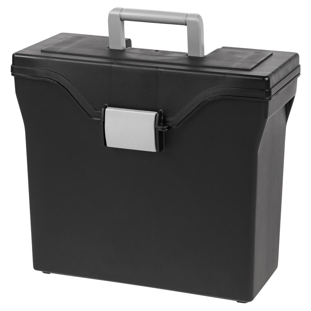 Iris Slim File Storage Box - 5pk, Black