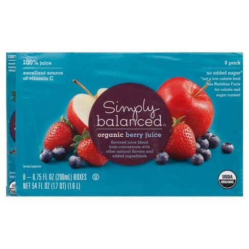 Organic Berry Juice - 8pk/6.75 fl oz Boxes - Simply Balanced™ - image 1 of 1