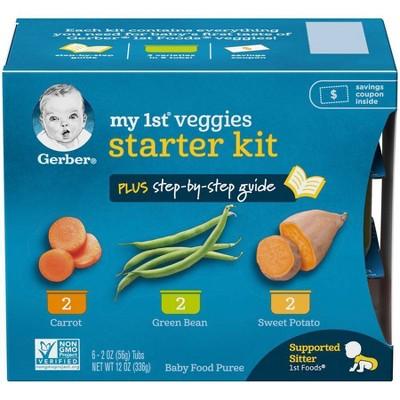 Gerber My 1st Veggies Starter Kit Meal - 2oz Tubs 6ct