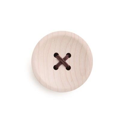 "Design Ideas Button Wall Hook – Wall Mounted Organization – Maple Wood, 2.8"" x 2.8"" x 1.3"""