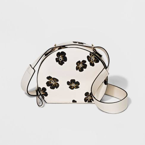 Floral Halfmoon Box Crossbody Bag - Who What Wear™ - image 1 of 4