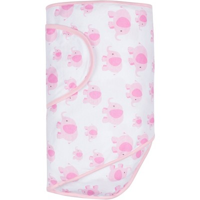 Miracle Blanket Swaddle Wrap Elephants Pink