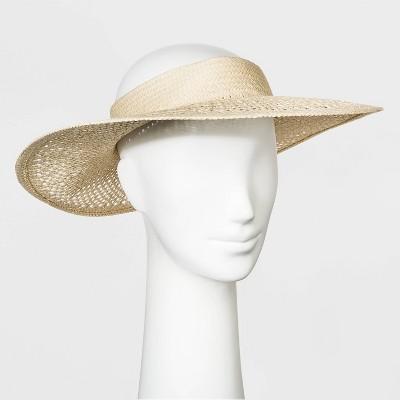 Women's Open Weave Visor Hat - Universal Thread™ Natural