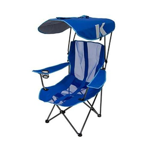 5881fa783e Kelsyus Premium Portable Camping Folding Lawn Chair With Canopy, Blue (2  Pack) : Target