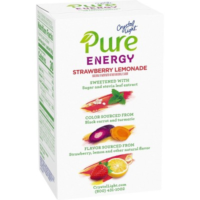 Crystal Light Pure Strawberry Lemonade Energy Mix - 6pk/1.8oz