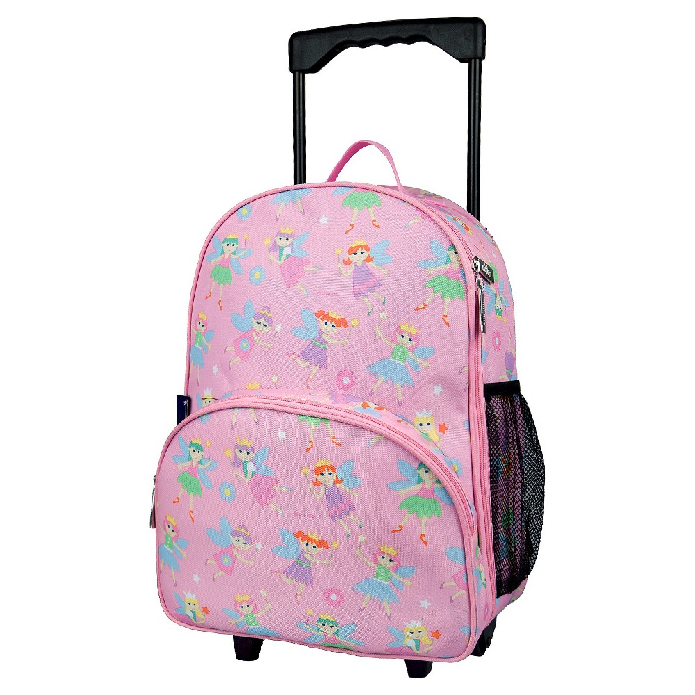 Wildkin Olive Kids Fairy Princess Rolling Carry On Suitcase - Pink
