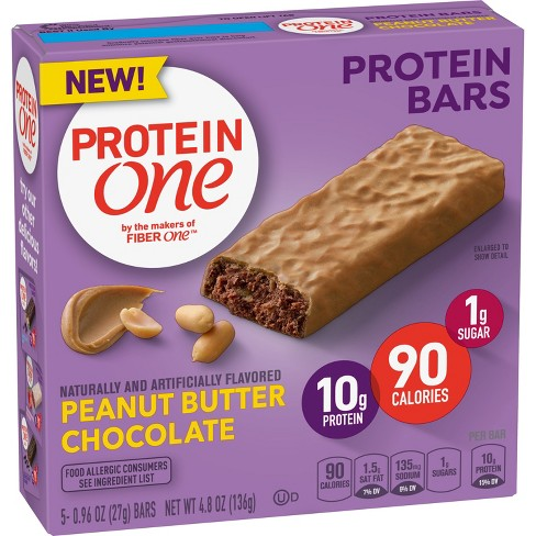 Protein One Peanut Butter Chocolate Protein Bar - 5ct - image 1 of 3