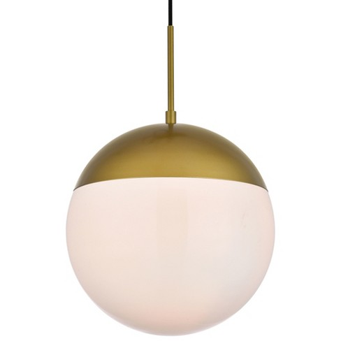 """Elegant Lighting LD6042 Eclipse Single Light 12"""" Wide Pendant with Frosted Glass - image 1 of 3"""