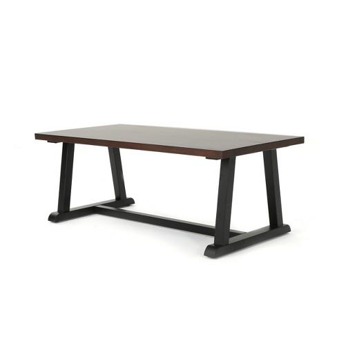 Powell Industrial Coffee Table Dark Walnut Christopher Knight