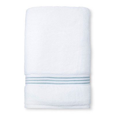 Spa Stripe Accent Bath Sheet Aqua - Fieldcrest®