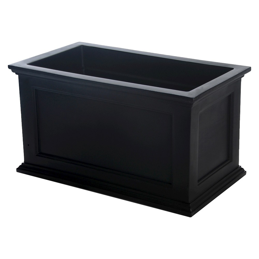 20 X 36 Fairfield Patio Rectangle Planter - Black - Mayne