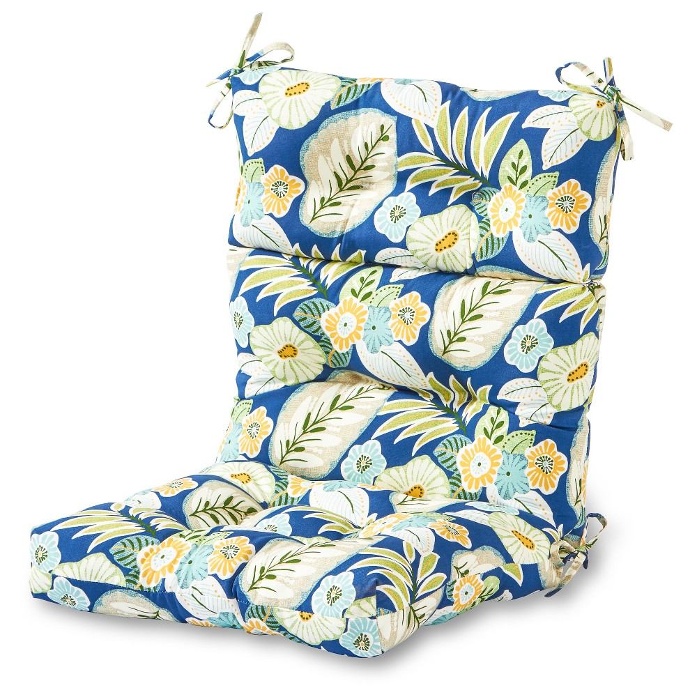 Image of Marlow Floral Outdoor High Back Chair Cushion - Greendale Home Fashions