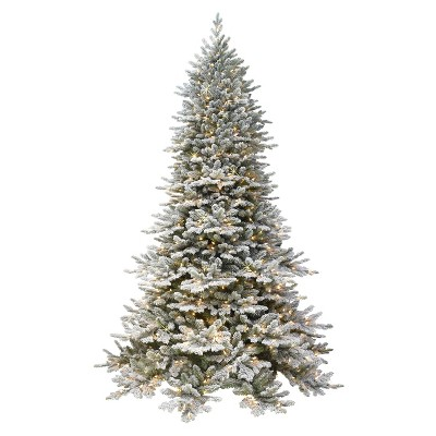 7.5ft Puleo Pre-Lit Full Flocked Royal Majestic Douglas Fir Down-Swept with Sure Lit Clear Incandescent Lights