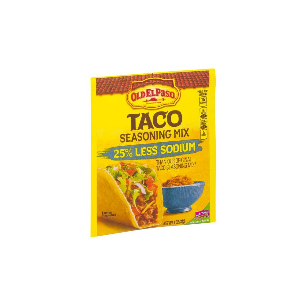 Old El Paso 25% Less Sodium Taco Seasoning 1oz Cheap