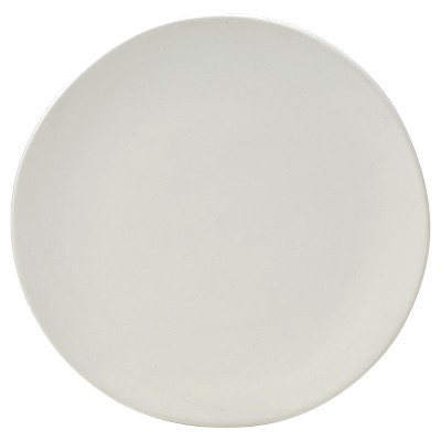 10 Strawberry Street Matte Wave Stoneware Charger Plates 12.8  White - Set of 6