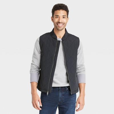 Men's Lightweight Quilted Puffer Vest - Goodfellow & Co™ Black