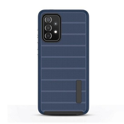 MyBat Fusion Protector Case Compatible With Samsung Galaxy A52 5G - Ink Blue Dots Textured / Black